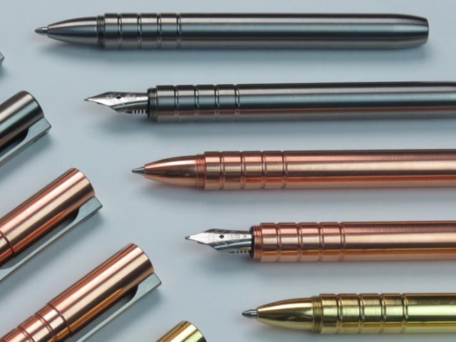 TiScribe: Titanium, Copper, Brass Fountain/Ballpoint EDC Pen